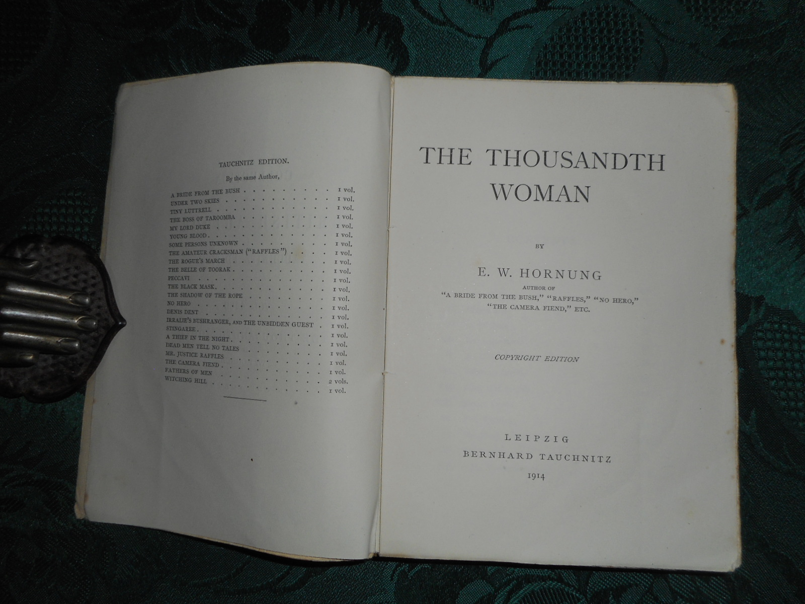 Image for The Thousandth Woman .  Tauchnitz Edition Vol. 4460.