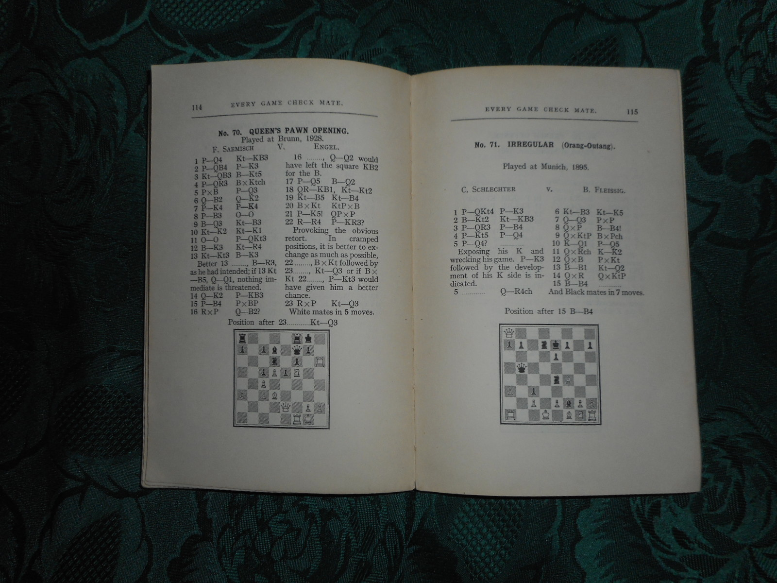 Image for Every Game Check Mate. an Entirely New Series of One Hundred and One Match Games Ending in Check Mate, with Diagrams and Solutions. Second Series. Frank Hollings Chess Series No.7