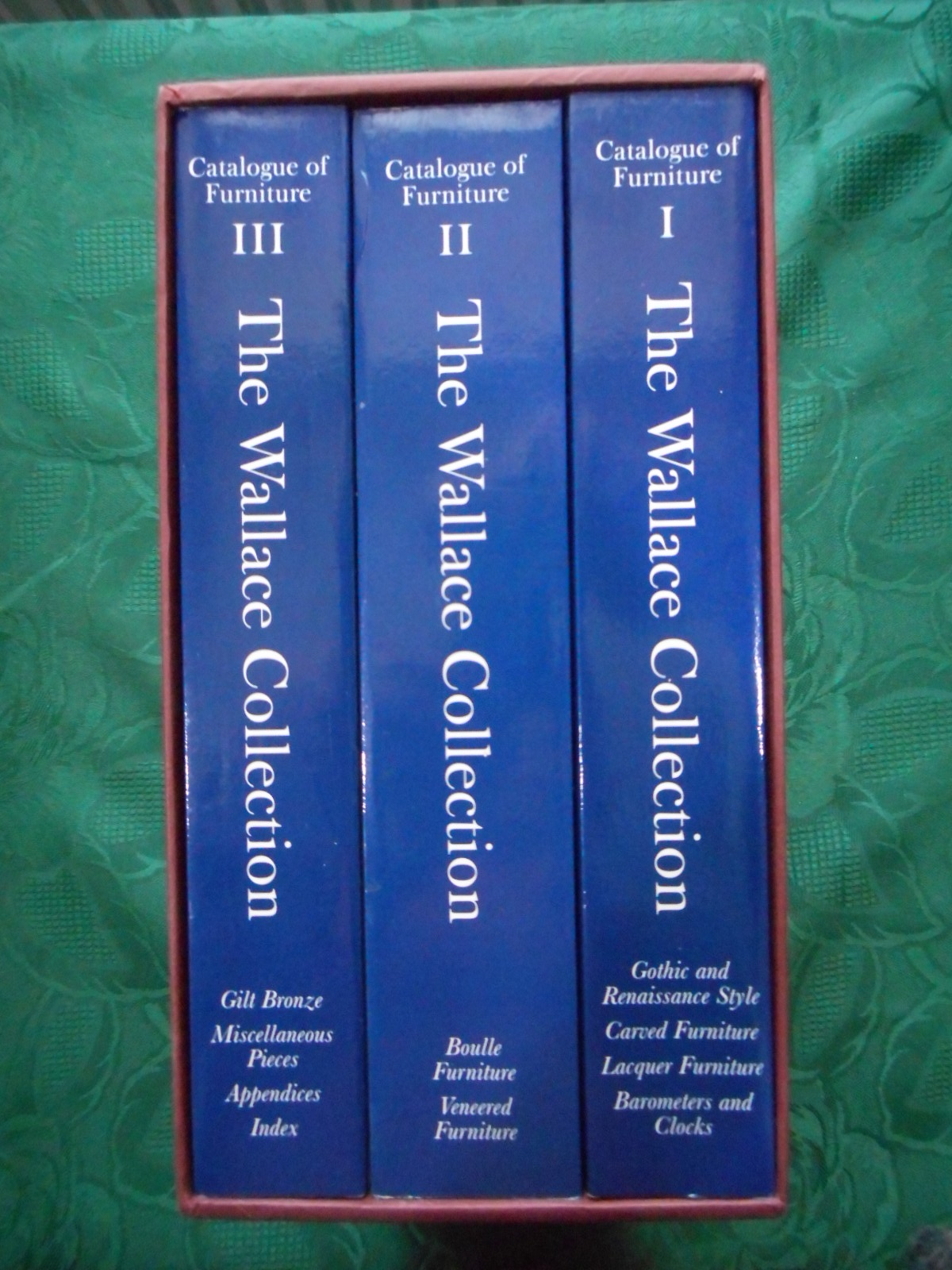 Image for The Wallace Collection. Catalogue of Furniture. 3 Volume Set. Complete in Slipcase. (Signed Copy)