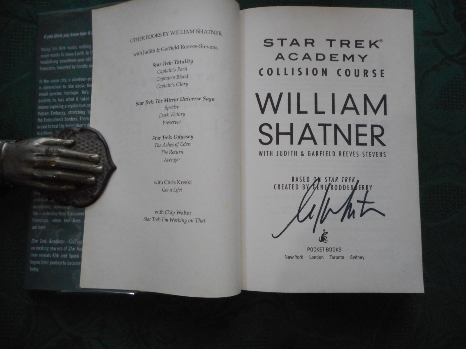 Image for Star Trek . Academy . Collision Course (SIGNED by William Shatner)