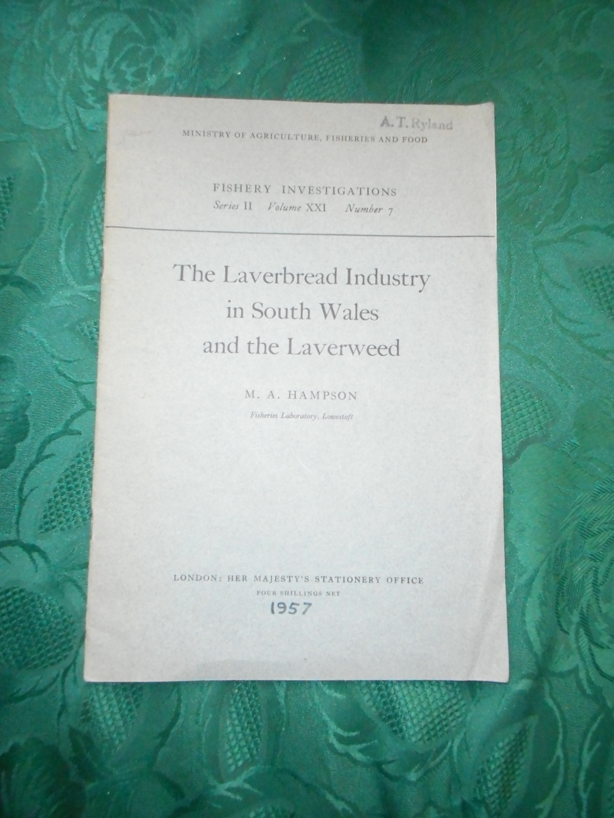 Image for Fisheries Investigations. Series II, Volume XX1, Number 7. (Series 2, Vol 21, No. 7). The Laverbread Industry in South Wales and the Laverweed.