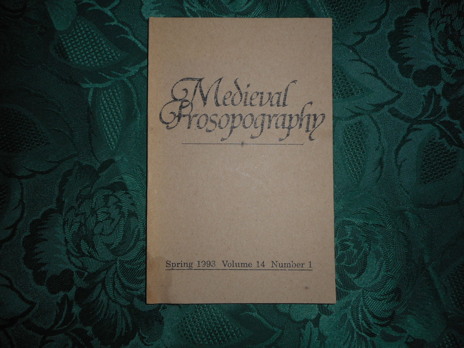 Image for Medieval Prosopography Spring 1993 Volume 14 Number 1