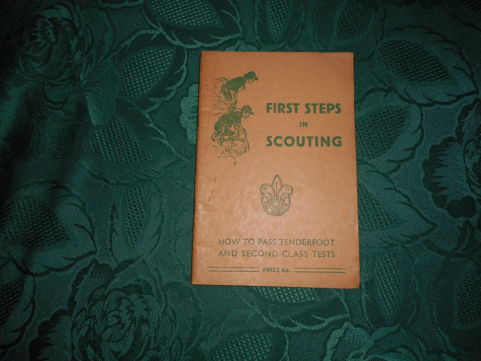 Image for First Steps in Scouting. How to Pass Tenderfoot and Second-Class Tests.