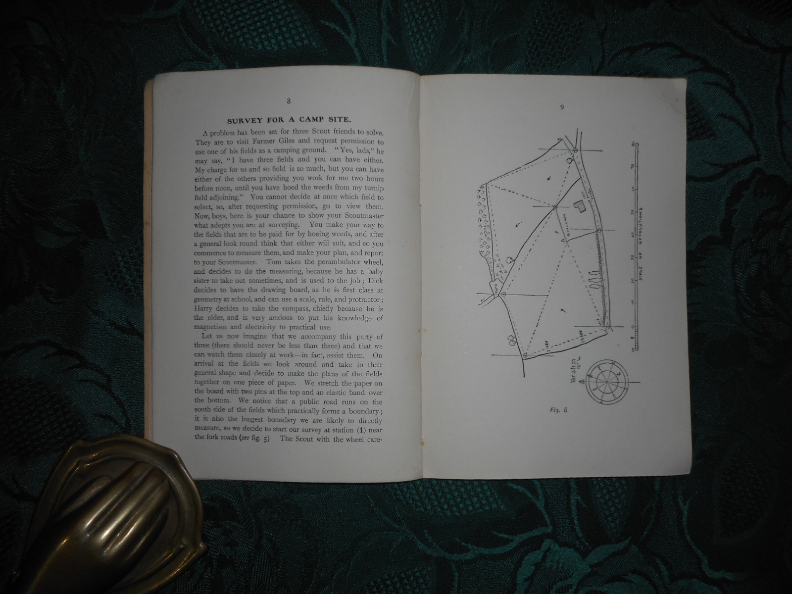 Image for Surveying for Boy Scouts. with Sectional Paper for Survey Work. Revised by Scoutmaster Ernest Alderson ... with Chapters on Map Reading