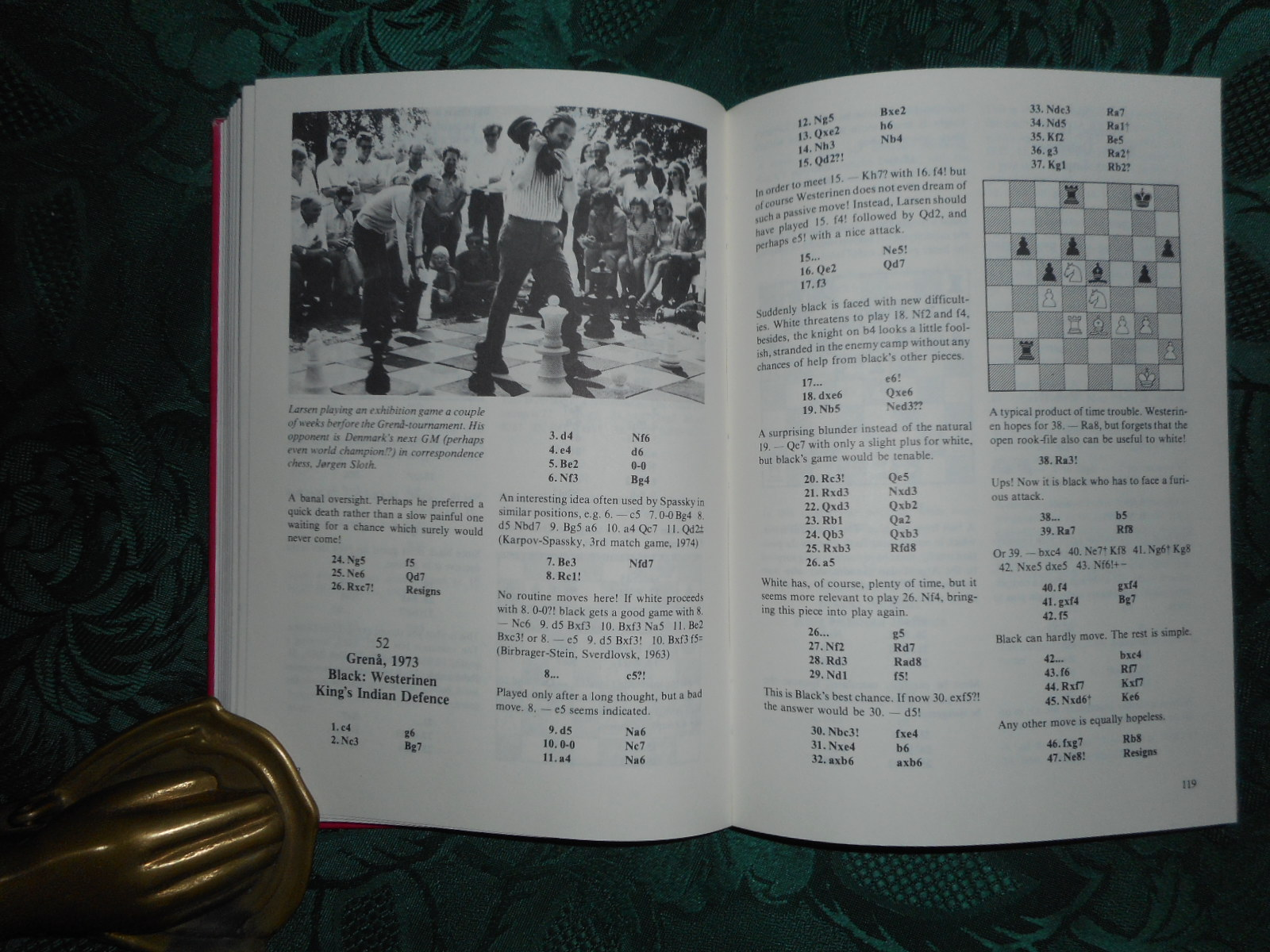 Image for Bent Larsen - The Fighter. (Together with an Official Score Sheet of a Match - US Chess Fed. - between Bent Larsen and A. J. Miles. SIGNED by Both Players)