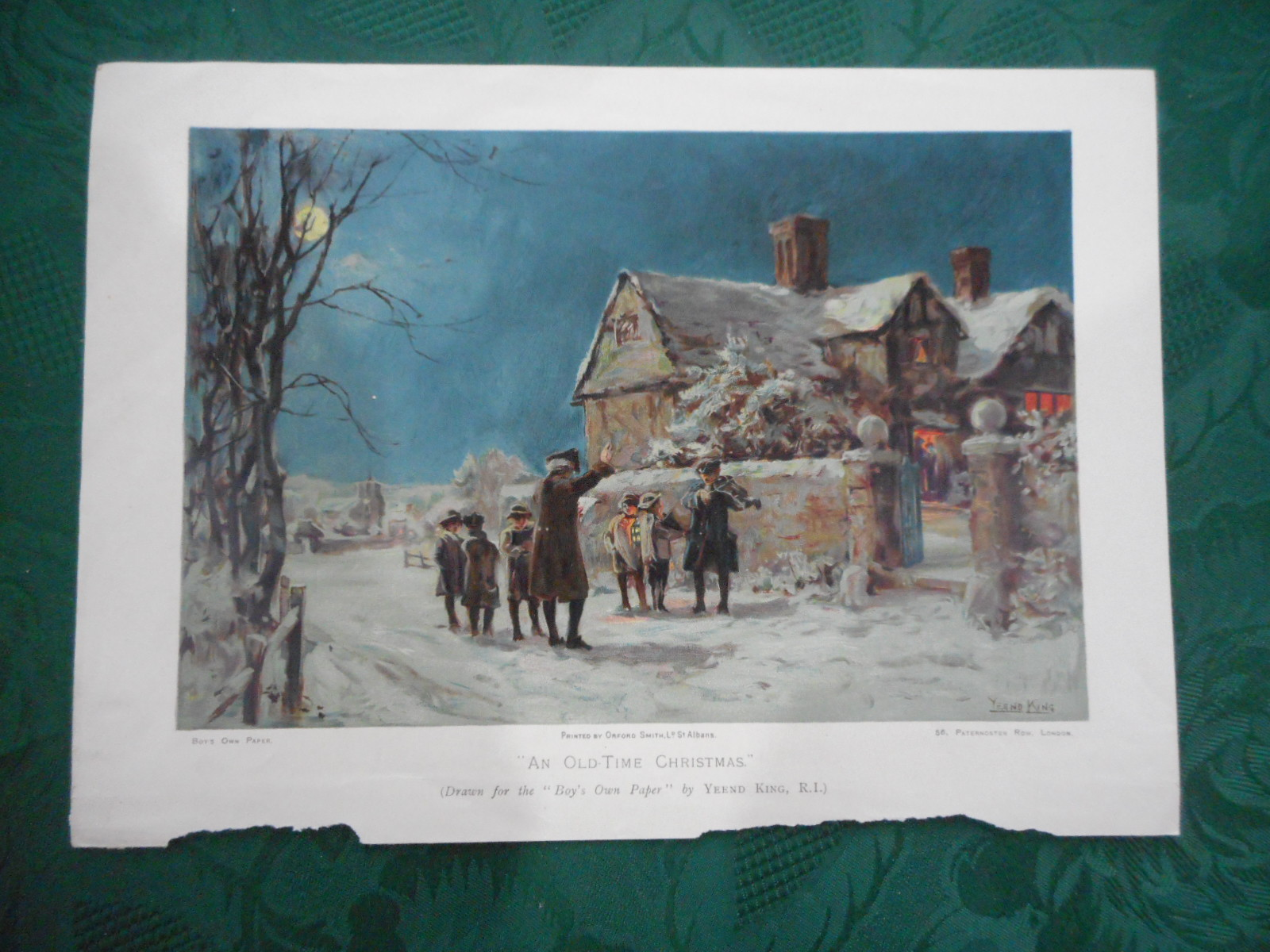 "Image for 'An Old Time Christmas' PRINT - A Coloured Lithograph from ""The Boy's Own Paper"". Annual"