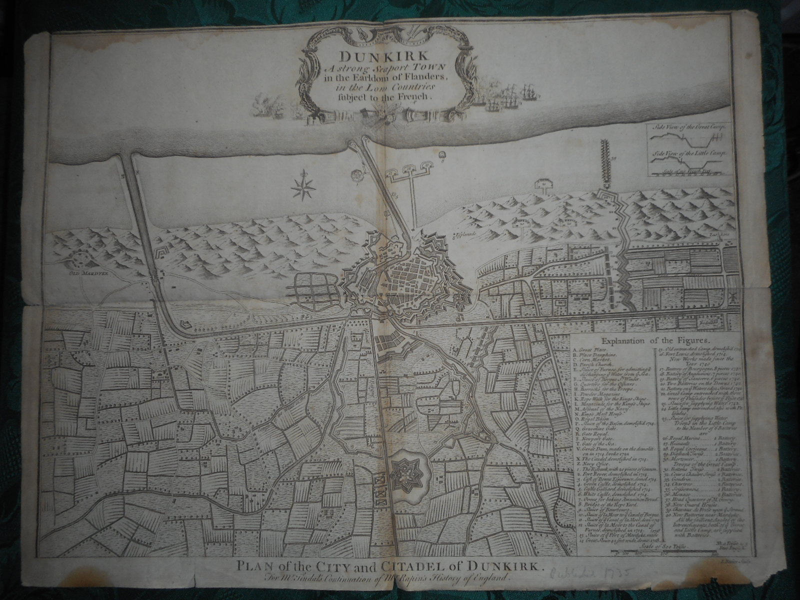 Image for Plan of the City and Citadel of DUNKIRK.  From Mr Tindal's Continuation of Mr. Rapin's History of England