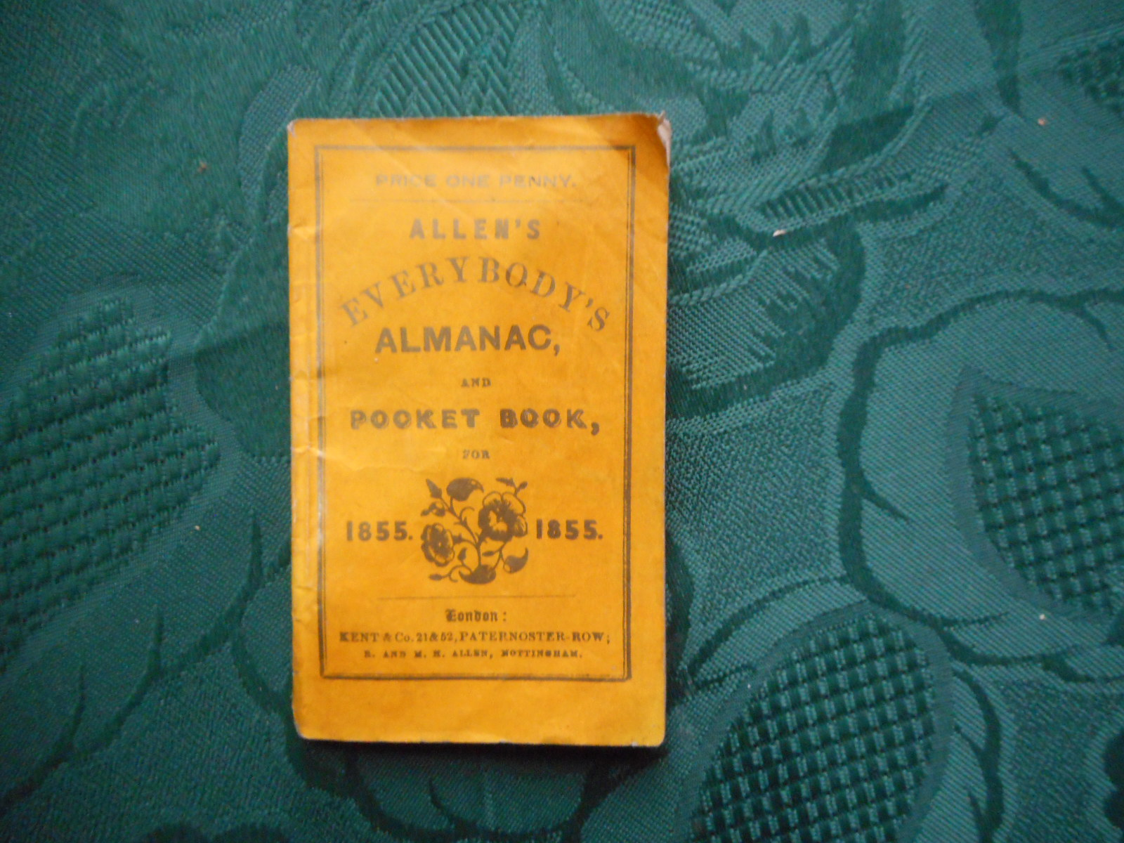Image for Allen's Everybody's Almanac, and Pocket Book for 1855