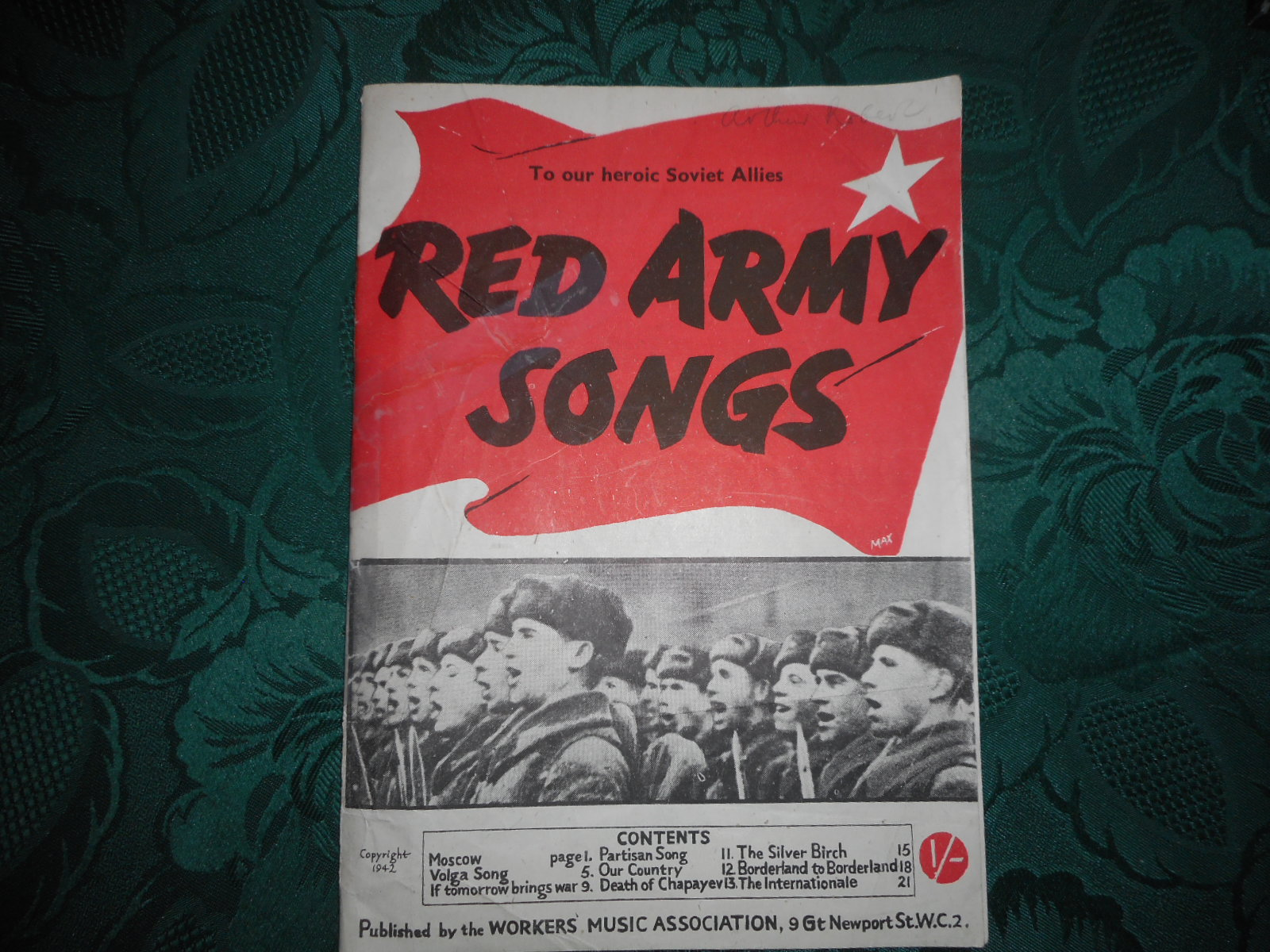 Image for Red Army Songs To Our Heroic Soviet Allies