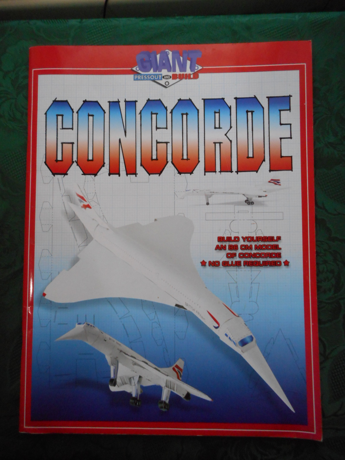Image for GIANT PRESSOUT and BUILD CONCORDE  Build Yourself an 86 Cm Model of Concorde. NO Glue Required. Press out and Build.