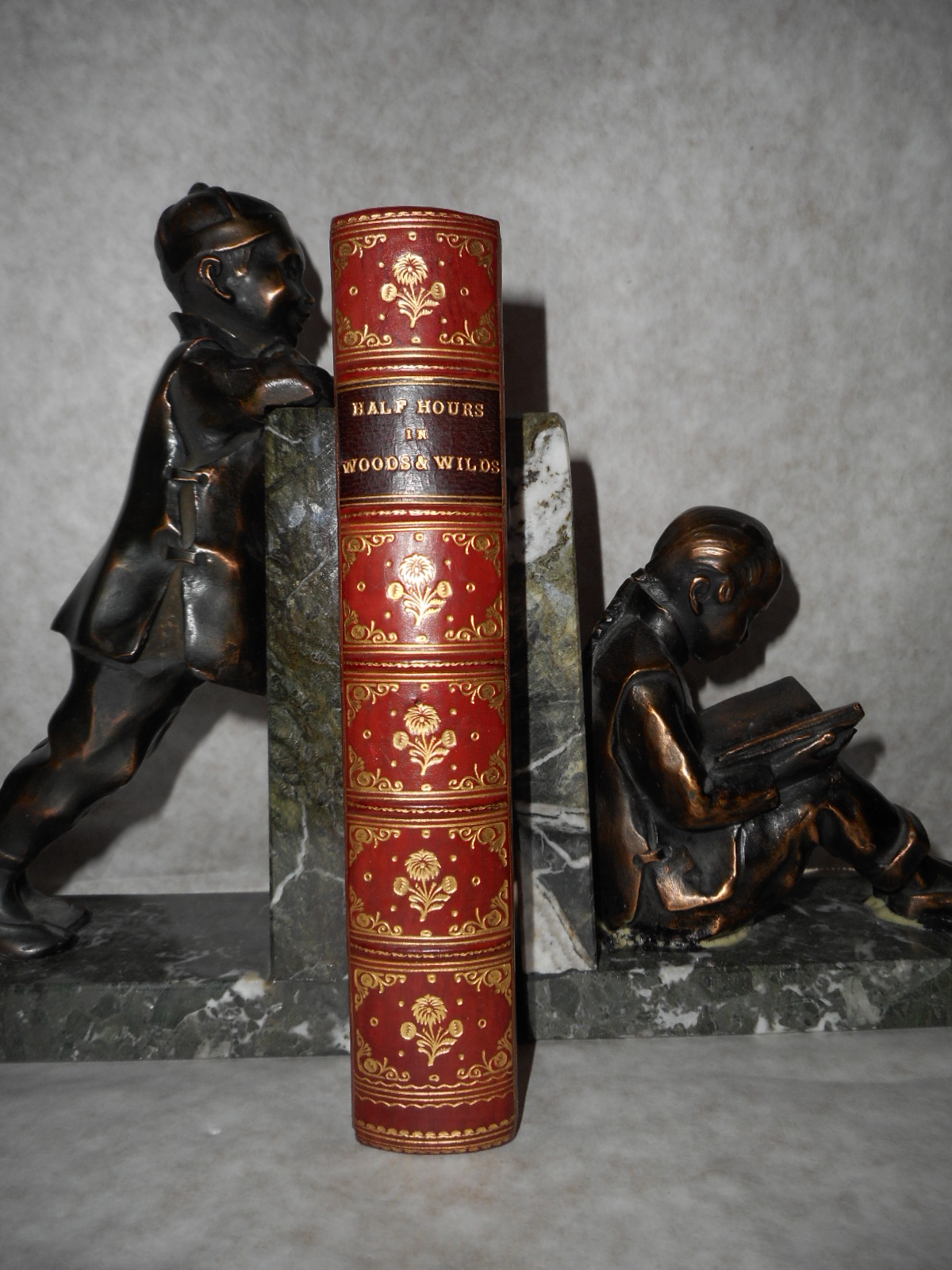 Image for Half Hours in Woods and Wilds Adventures of Sport and Travel (Full Leather Prize Binding)