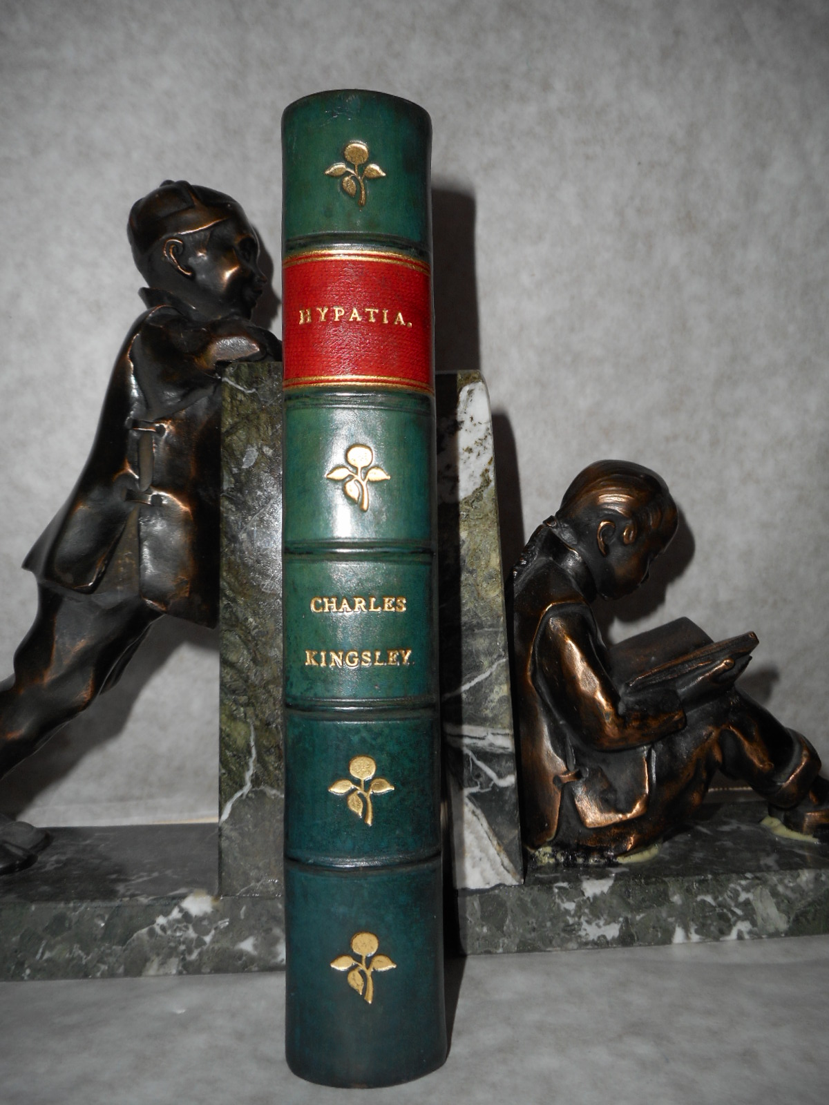 Image for Hypatia or New Foes with an Old Face  (Turn of the Century Half-Leather Binding)
