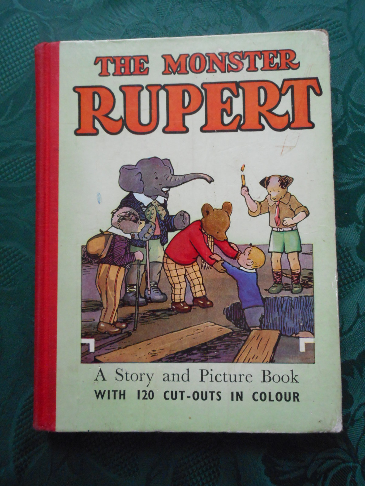 Image for The MONSTER RUPERT. A Story and Picture Book with 120 Cut-Outs in Colour.