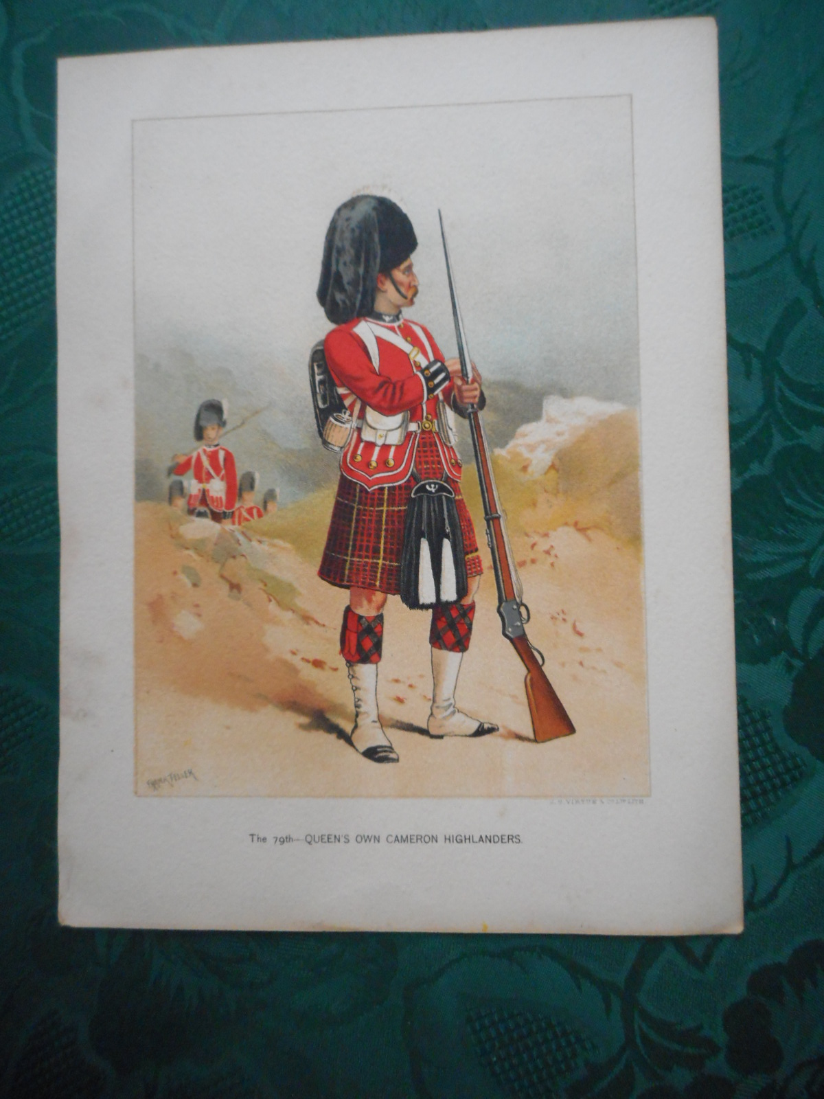 """24 ORIGINAL Antique Chromolithographic MILITARY PRINTS from Walter Richard's  """"Her Majesty's Army, A Descriptive Account of the Various Regiments Now Comprising the Queen's Forces, From Their First Establishment to the Present Time""""."""