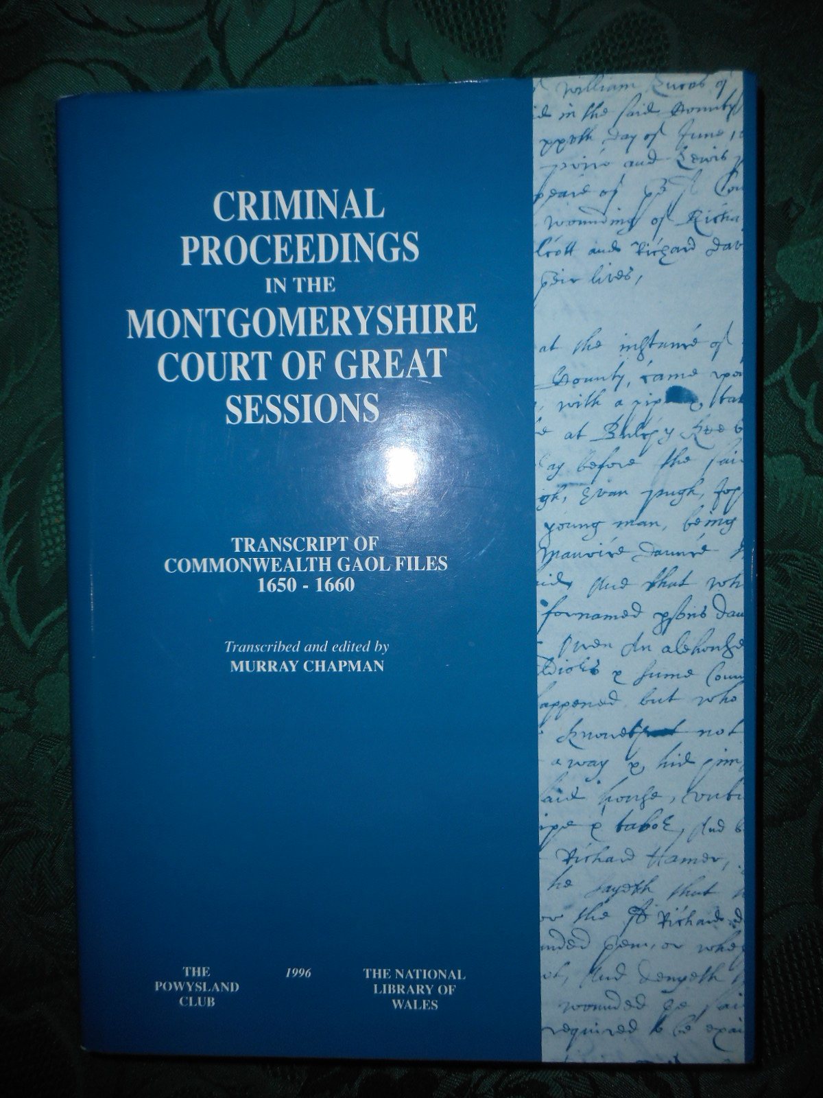 Image for Criminal Proceedings in the Montgomeryshire Court of Great Sessions Transcript of Commonwealth Gaol Files 1650-1660
