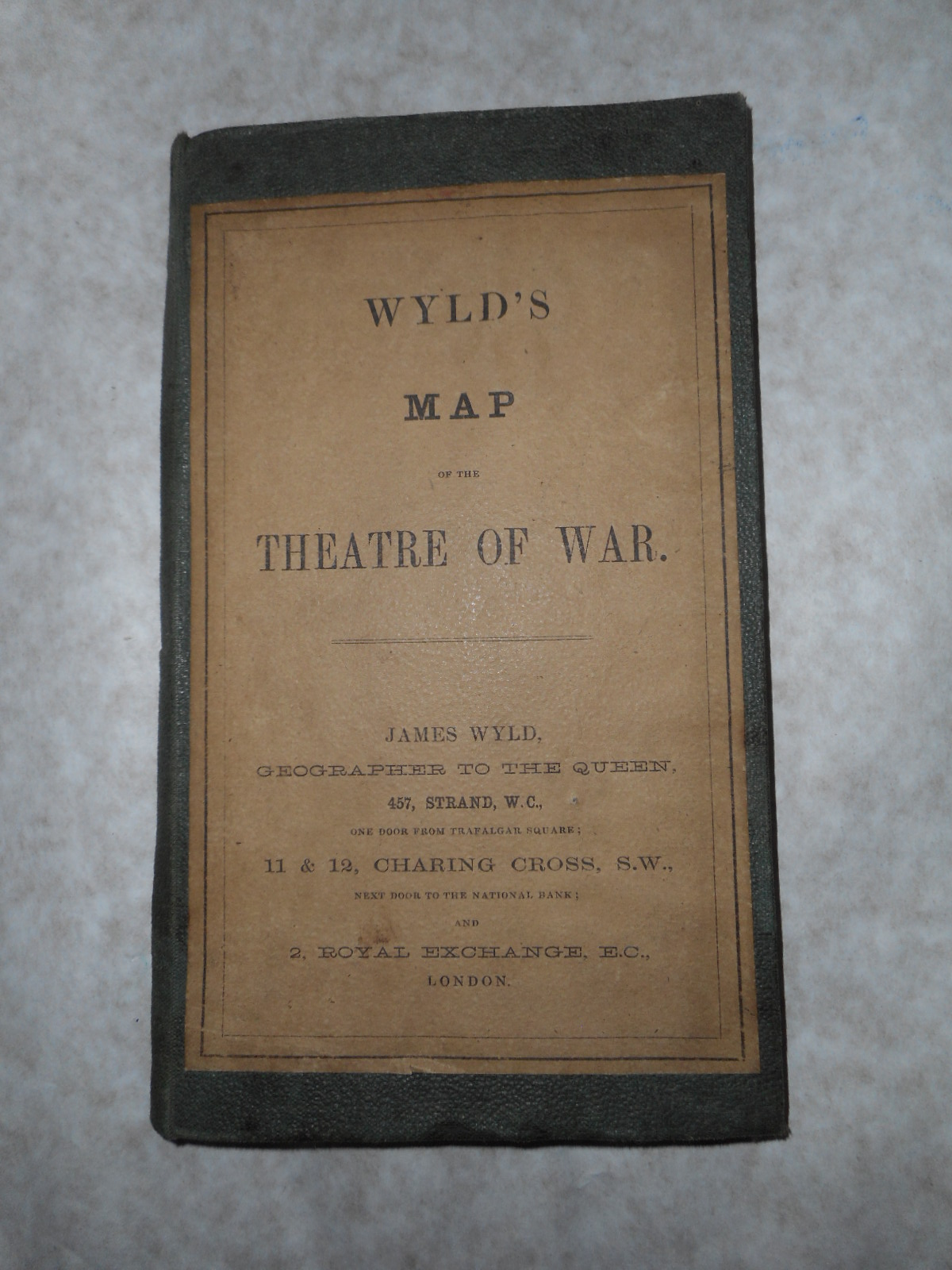 Wyld's Map of the Theatre of War. Wyld's Map of the North-Eastern Frontier of FRANCE Including Belgium and the Rhine