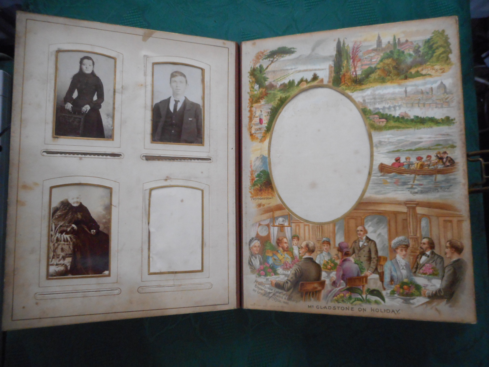 Image for The Gladstone Album. Victorian ' Musical ' Carte De Visite / Cabinet Photograph Album with Working Musical Mechanism.