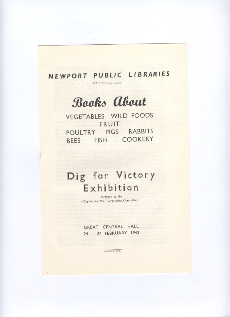 Image for Books About......A 'Dig for Victory' Exhibition (pamphlet)