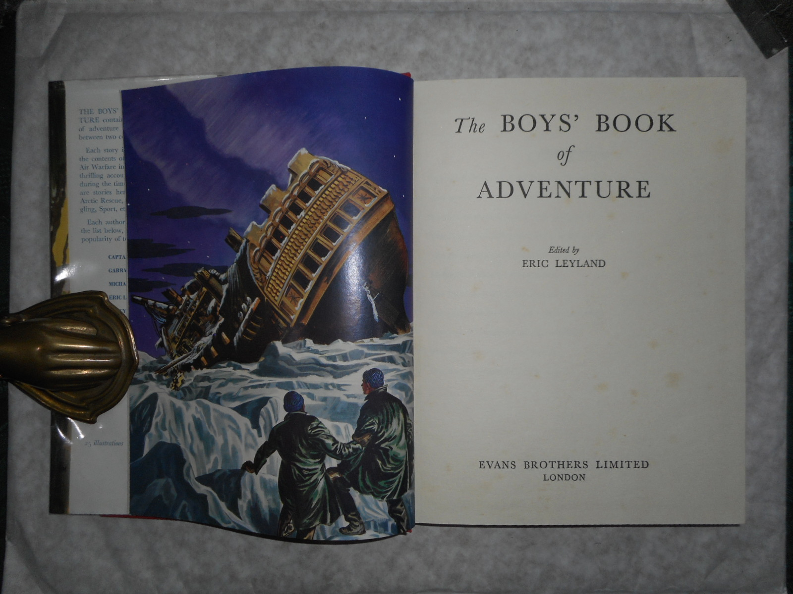 Image for The Boys Book of Adventure First Story = 'Skyway Robbery' (A New 'BIGGLES' Story)