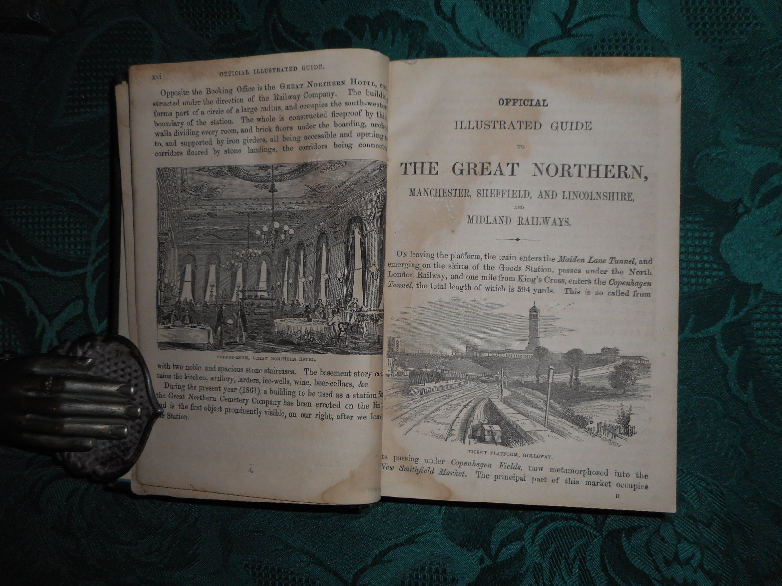 Image for The Official Illustrated Guide to the Great Northern Railway Including the Manchester, Sheffield, and Lincolnshire, and Midland Railways With Descriptions of the Most Important Manufactories in the Large Towns on the Lines... Embellished with 250 Engravings