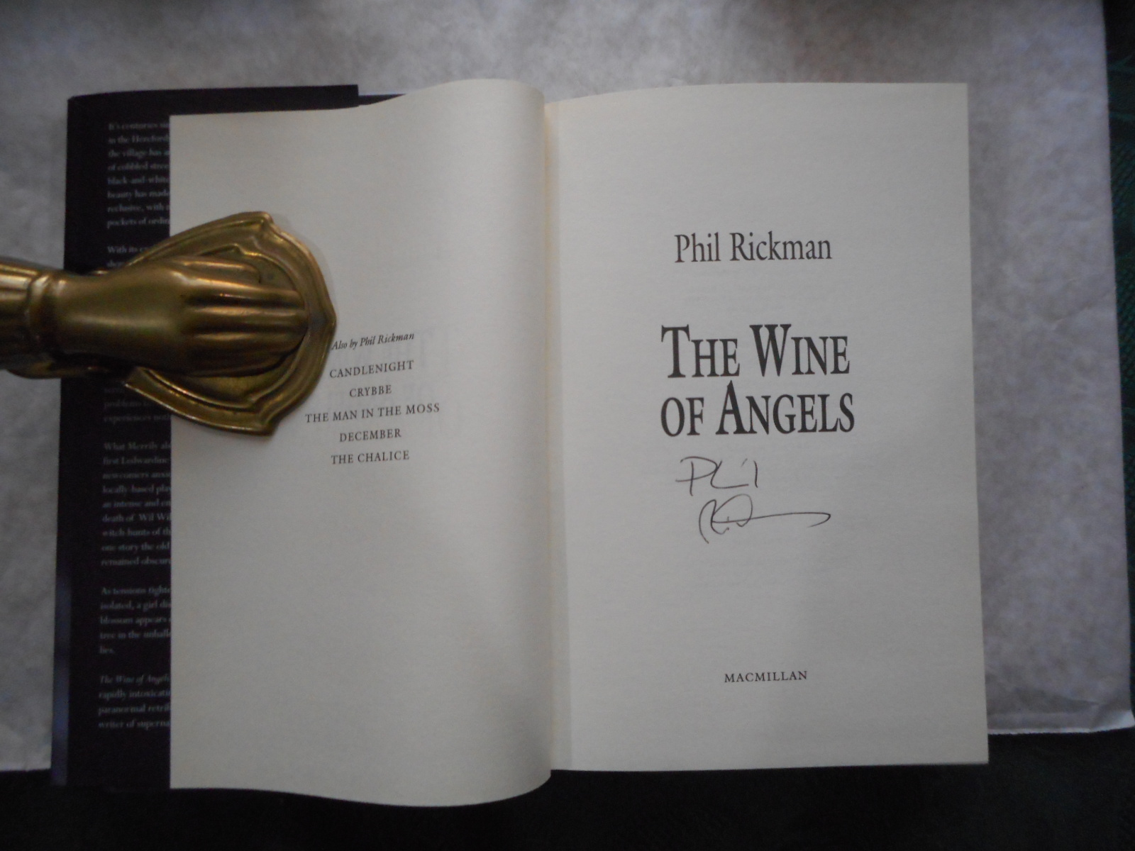 Image for The Wine of Angels (SIGNED Copy)