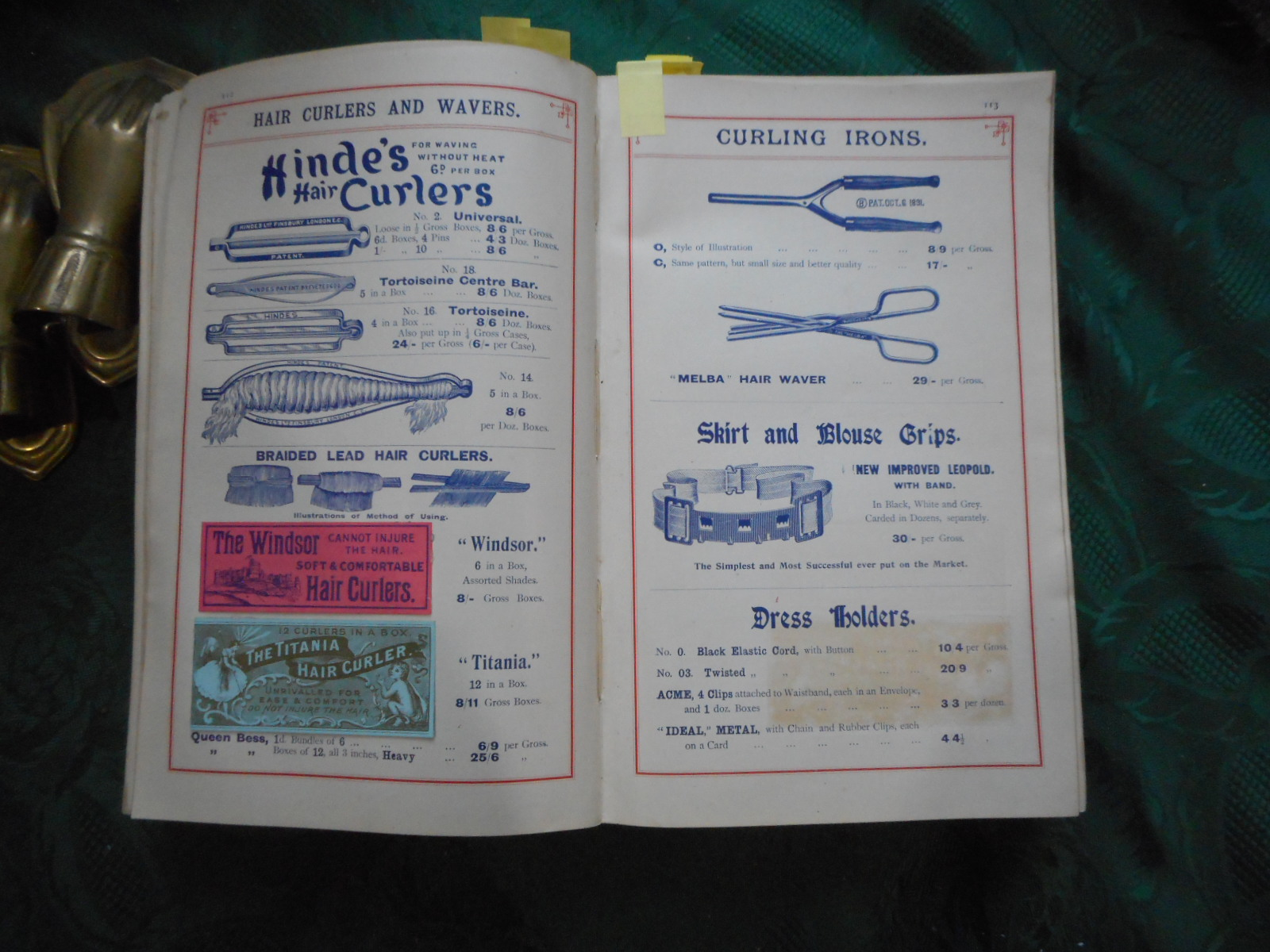 Image for Thomas Collier & Co. Ltd. Trade Wholesale HABERDASHERY CATALOGUE. Arrangement of Departments at the Warehouse = Wools; Smallwares; Tapes; Trimmings; Laces; Dyes; Flannels; Ribbons; Gloves and Umbrellas; Blouses and Skirts; Corsets; and Hosiery.