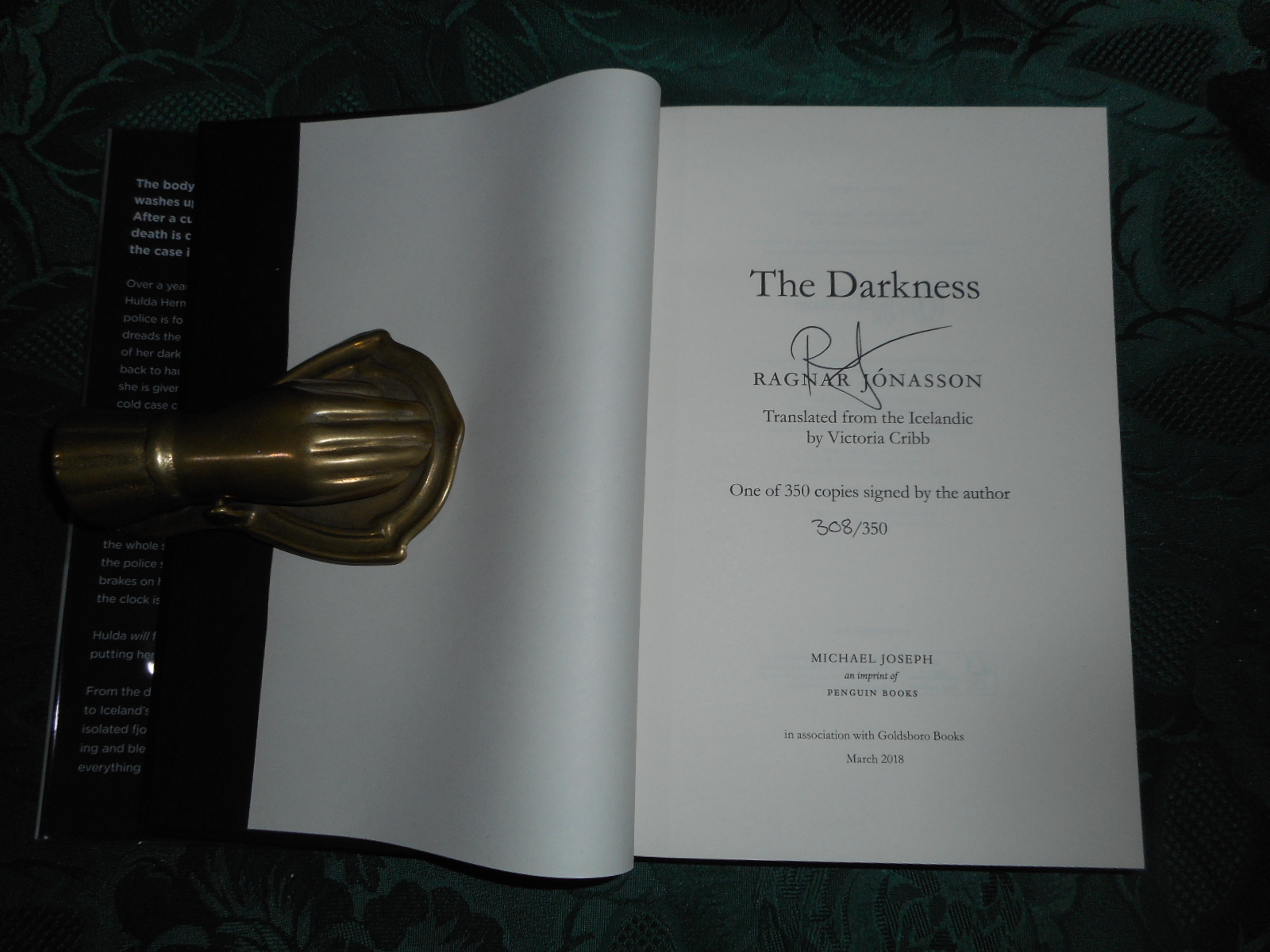 Image for The Darkness. SIGNED LIMITED Ediiton