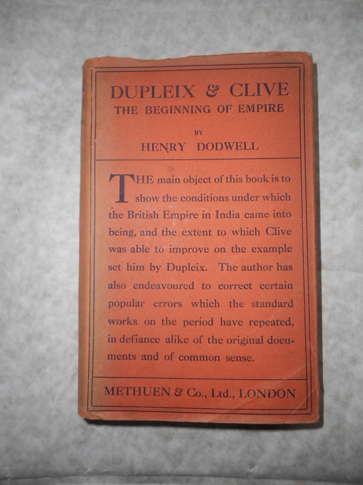 Image for Dupleix and Clive. The Beginning of Empire