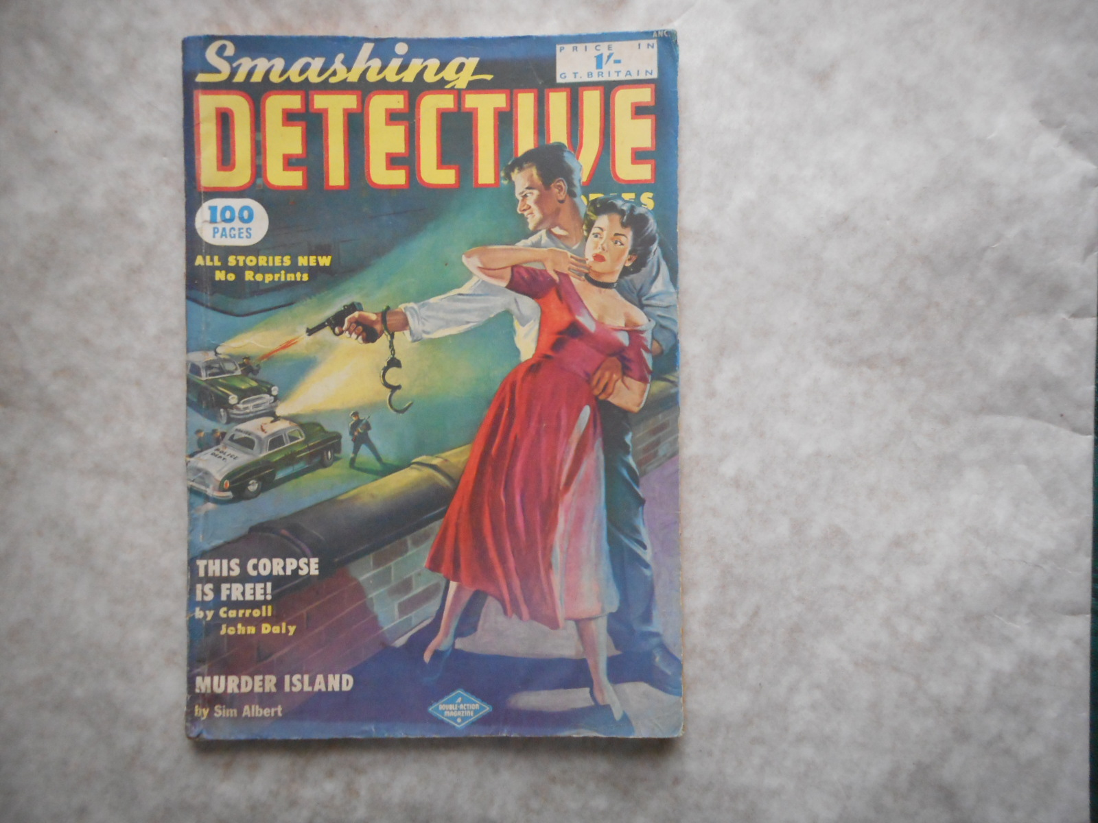 Image for SMASHING DETECTIVE STORIES. Number 5. September 1952. British Edition of the Magazine At 1/-.