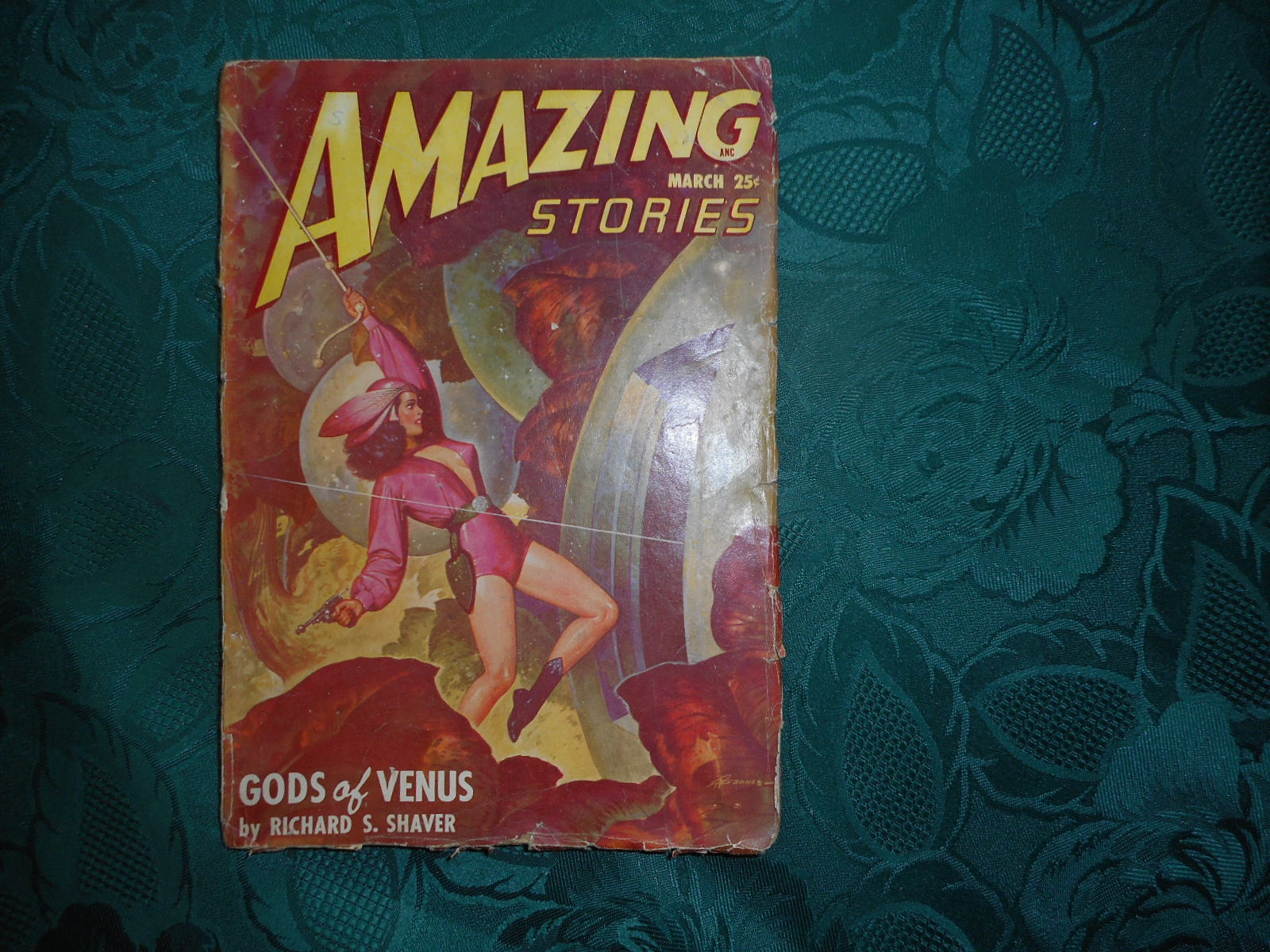 Image for AMAZING Stories: Volume 22 Number 3. March, 1948 Featuring the novel 'Gods of Venus' by Richard S. Shaver