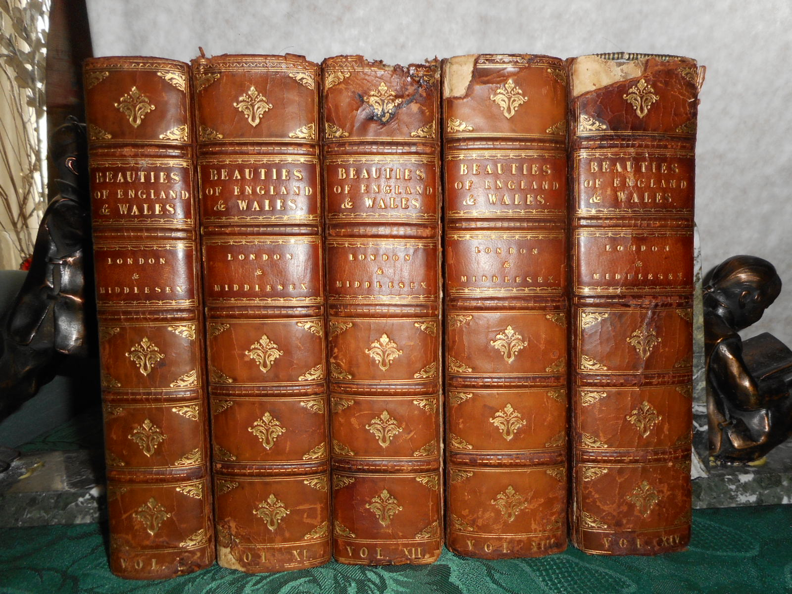 Image for The Beauties of England and Wales: Or, Delineations, Topographical, Historical, and Descriptive. Volume X - 5 Volumes - LONDON and MIDDLESEX Complete.
