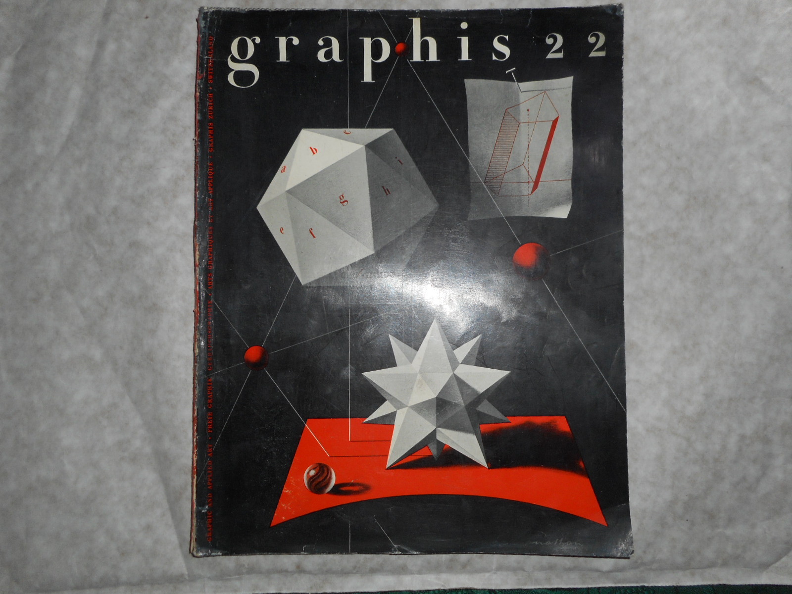 Image for GRAPHIS MAGAZINE International Journal of Graphic Art and Applied Art. No 22 1948 (Vol 4) .  In 3 Languages - French English and German