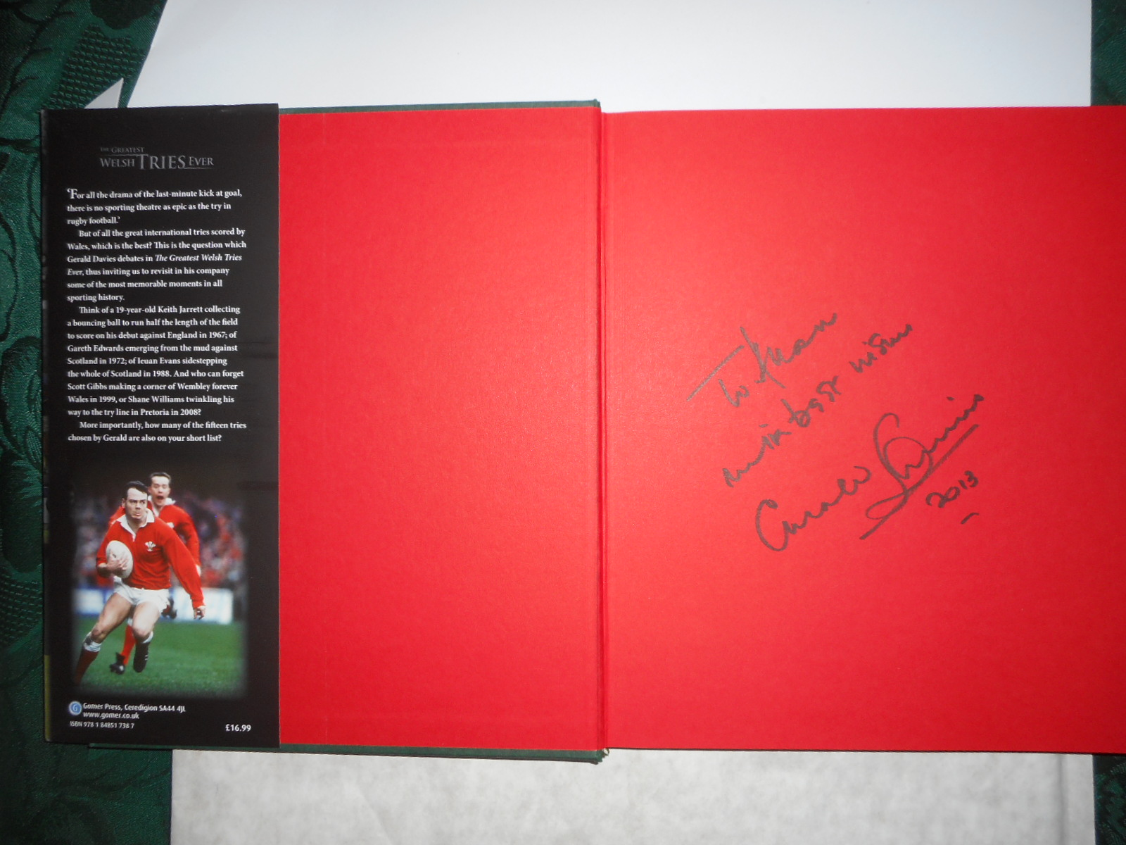 Image for The Greatest Welsh Tries Ever ( SIGNED Copy )