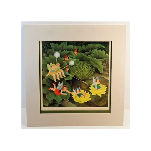 Image for Fairies & Pixies (Fairies and Pixies)  A MINT Mounted Beryl Cook HAND SIGNED, LIMITED EDITION, Full Colour Lithographic Print